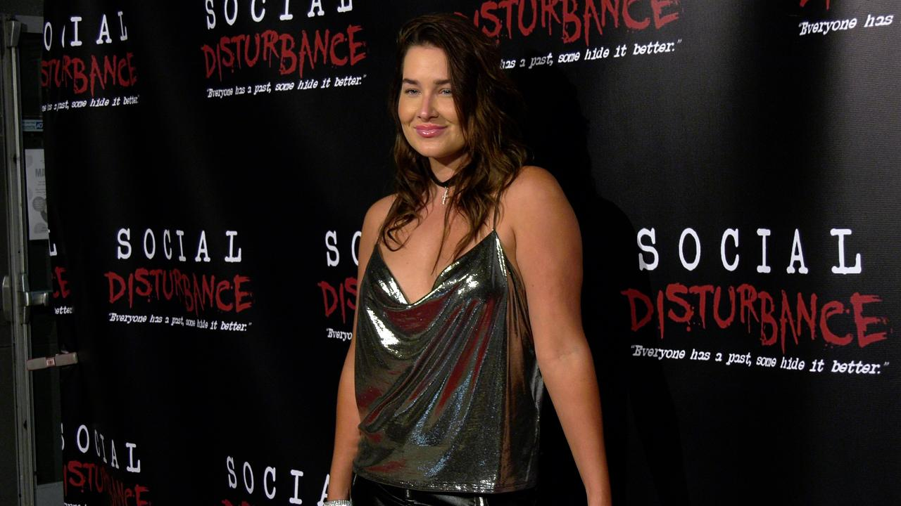 Singer Saint Heart 'Social Disturbance' attends the 'Social Disturbance' private screening red carpet in Los Angeles