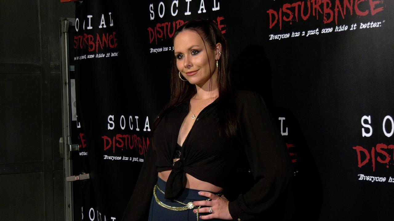 Actress Lenox Knight attends the 'Social Disturbance' private screening red carpet in Los Angeles