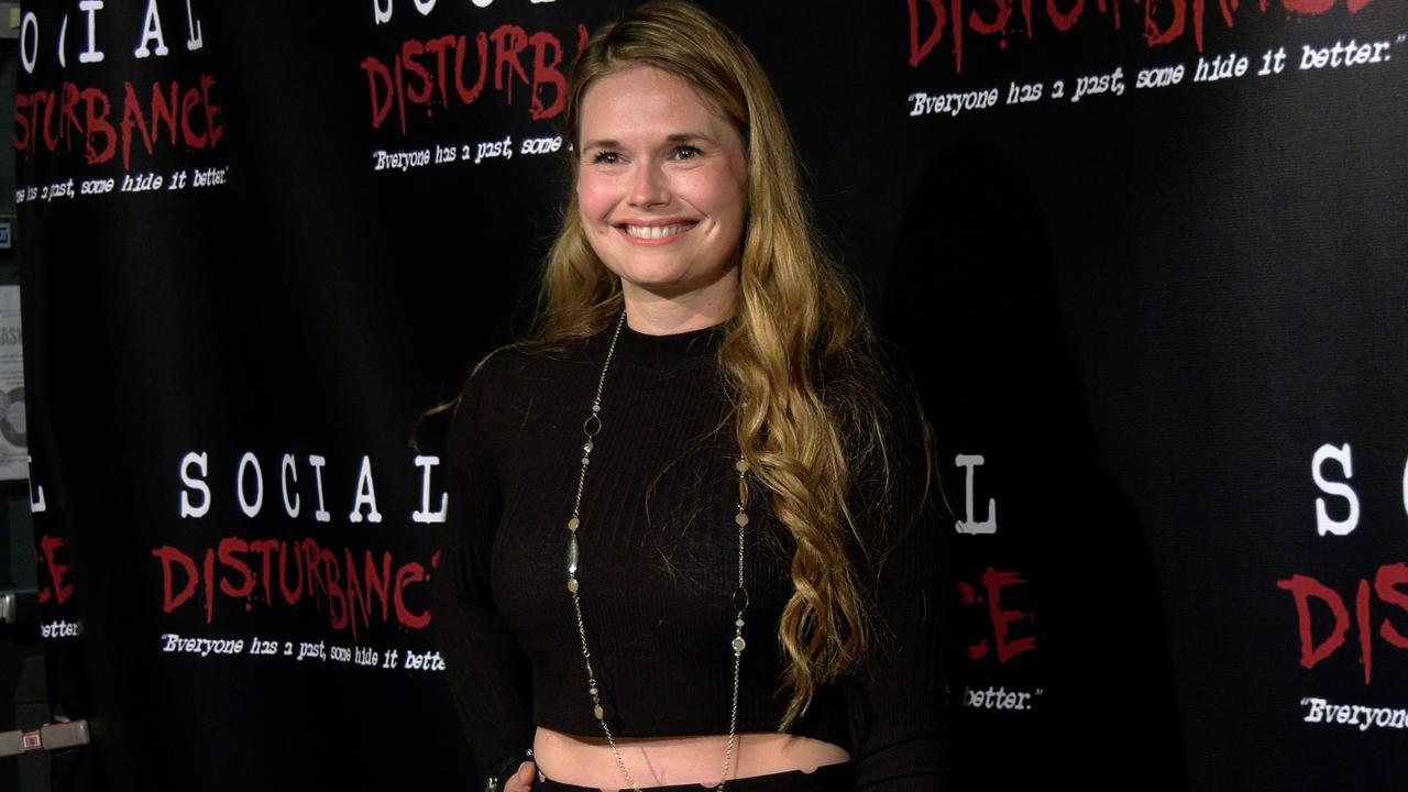 Actress Meredith Jackson attends the 'Social Disturbance' private screening red carpet in Los Angeles