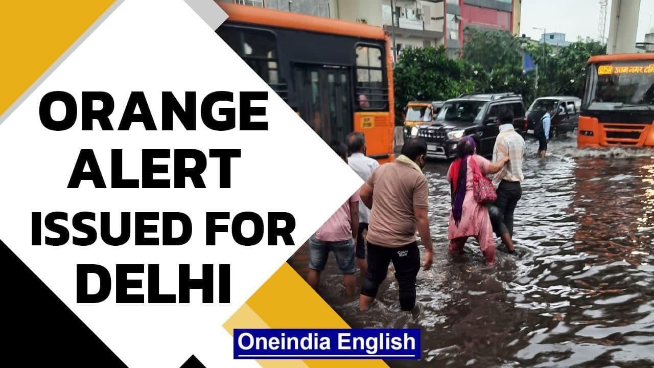 Delhi Airport flooded, orange alert issued after heavy  rain | Oneindia News