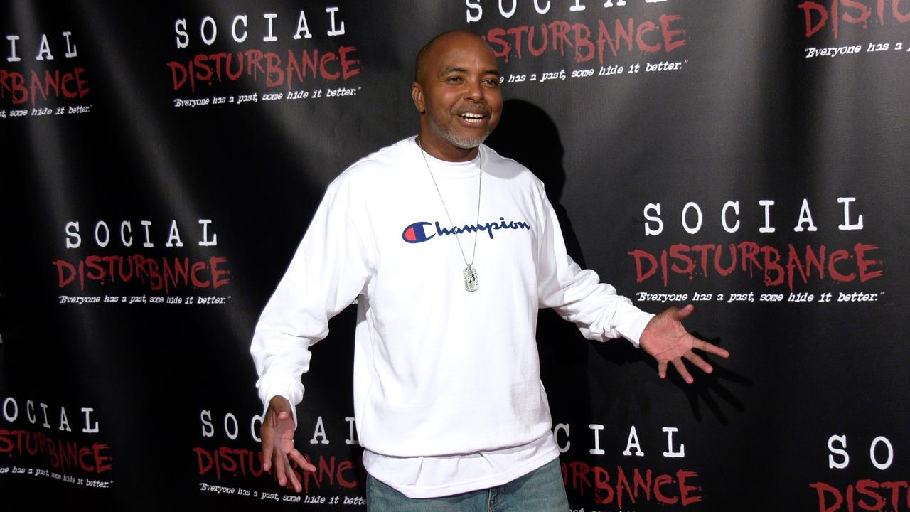 Rapper Domino attends the 'Social Disturbance' private screening red carpet in Los Angeles