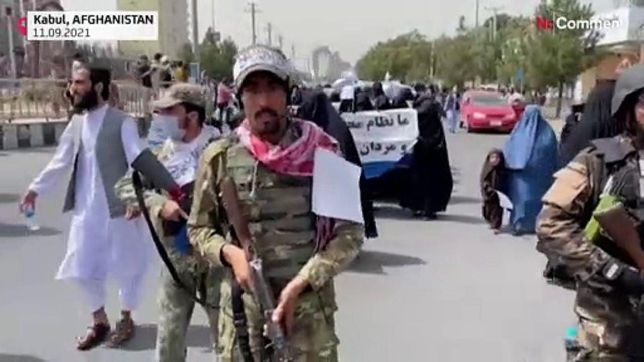 Afghan women display support for Taliban at Kabul university