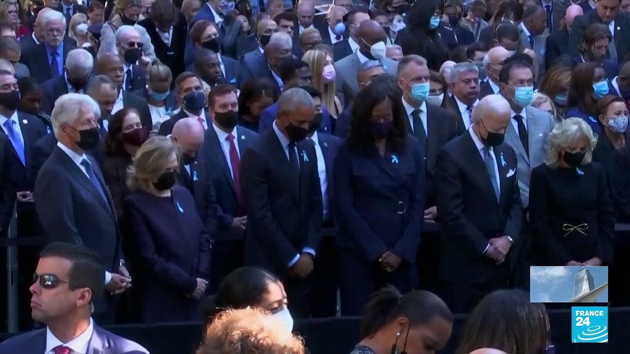 Second moment of silence held at New York service for 9/11 dead • FRANCE 24 English