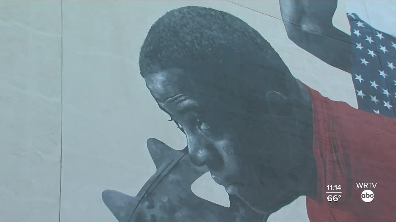 Major Taylor mural unveiled
