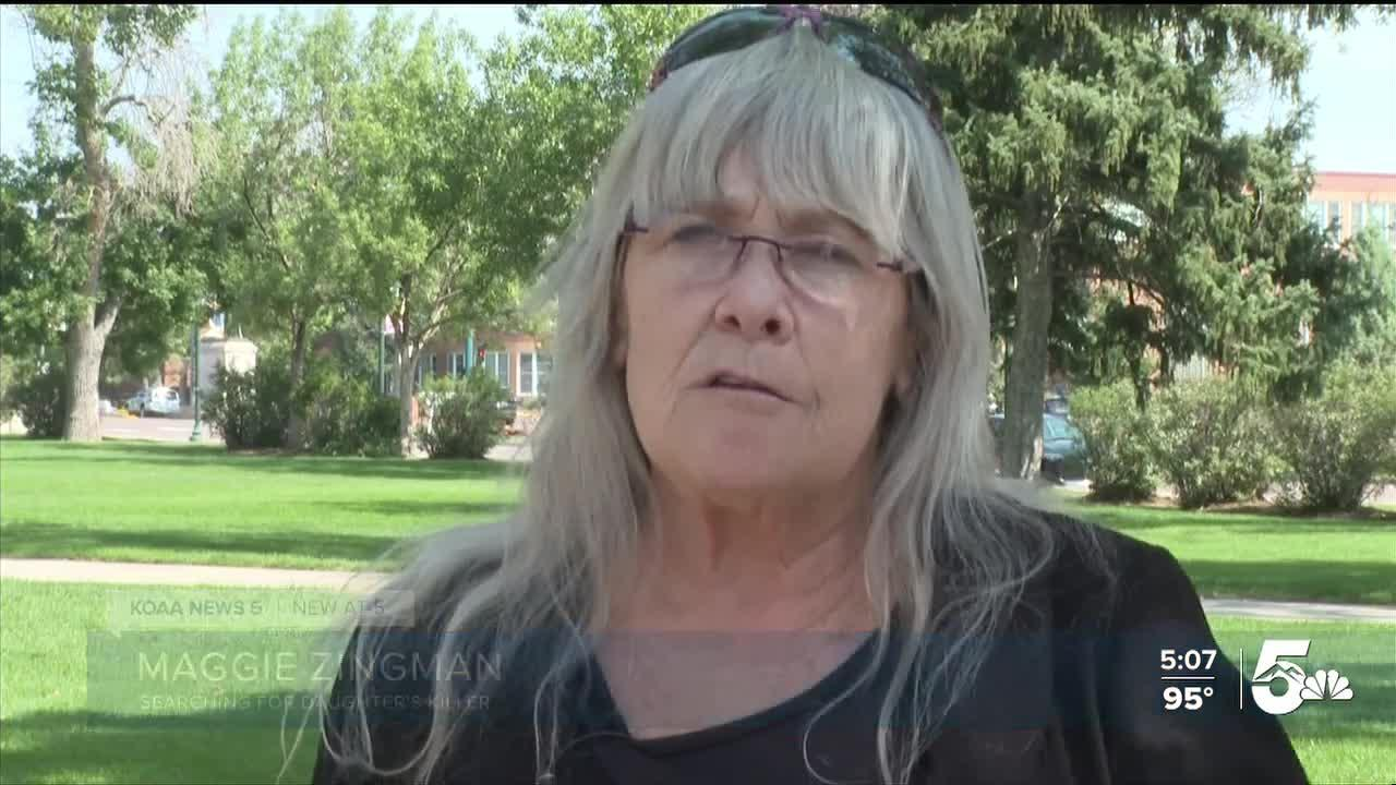 Oklahoma mother returns to Colorado Springs to continue search for daughter's killer