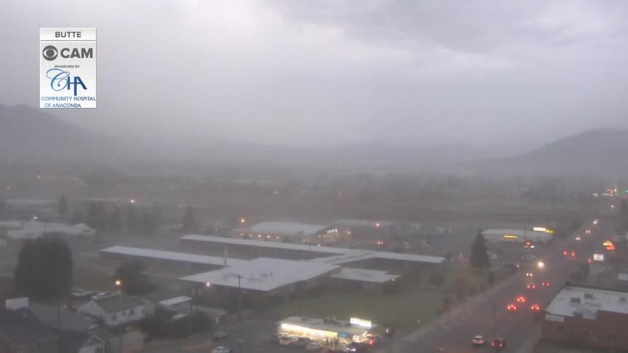 Powerful wind gusts in Butte Friday night