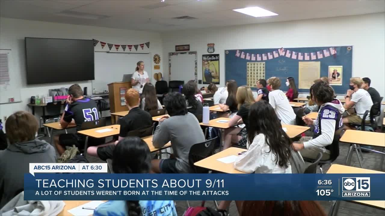 Schools teaching students about 9/11 attacks