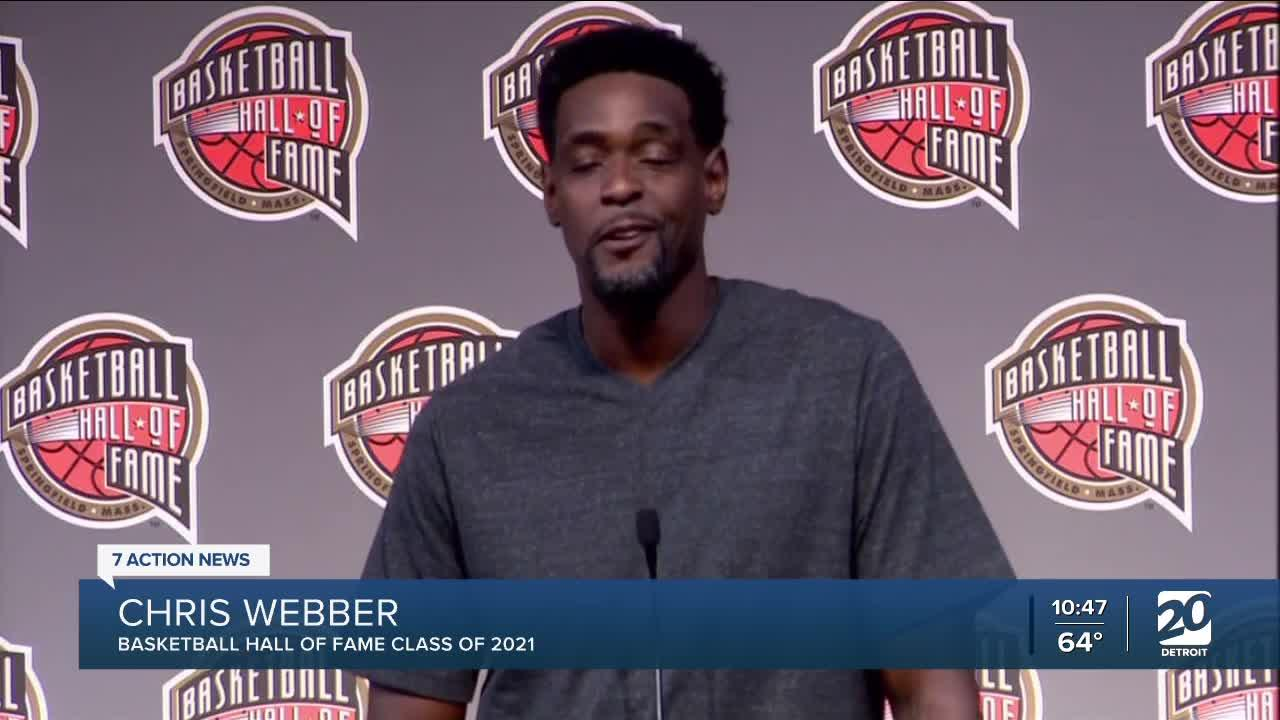 Chris Webber looks back fondly on Michigan memories as he enters Hall of Fame