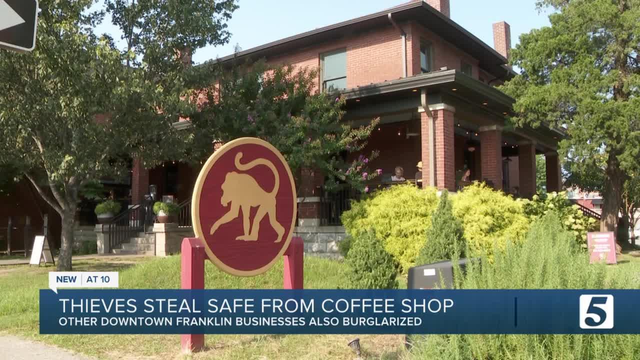 Burglars target three downtown Franklin businesses in overnight break-ins