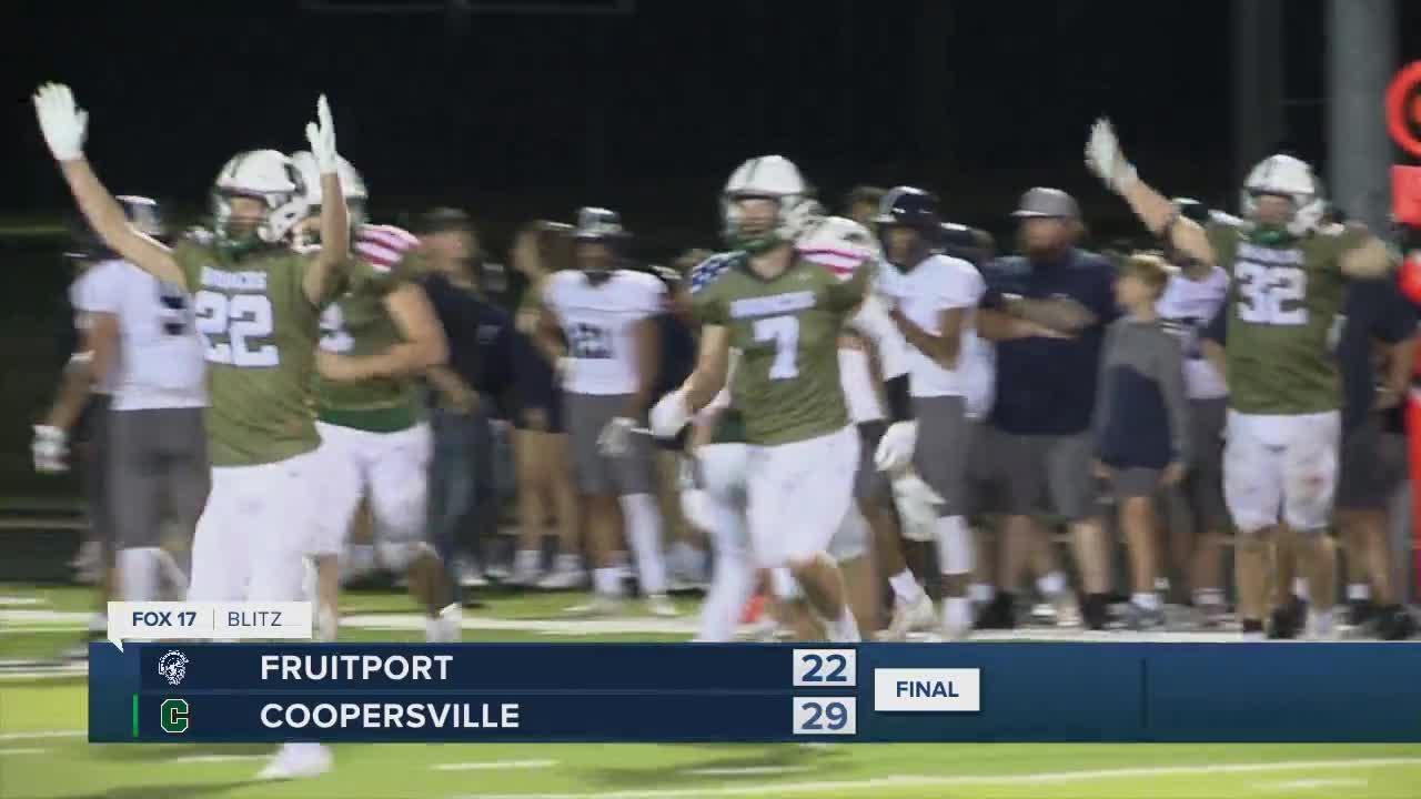 Coopersville 29, Fruitport 22