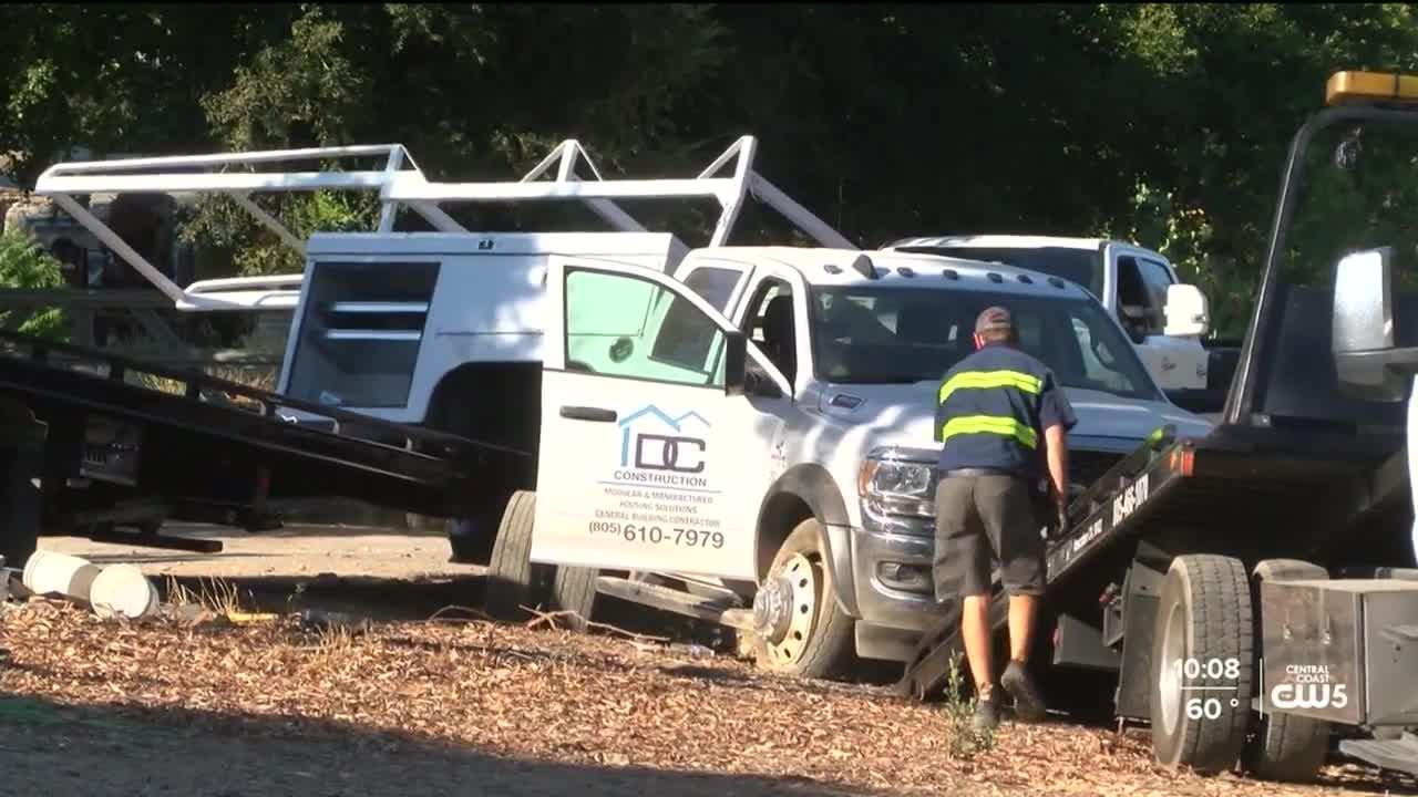 Amtrak train strikes truck in Templeton