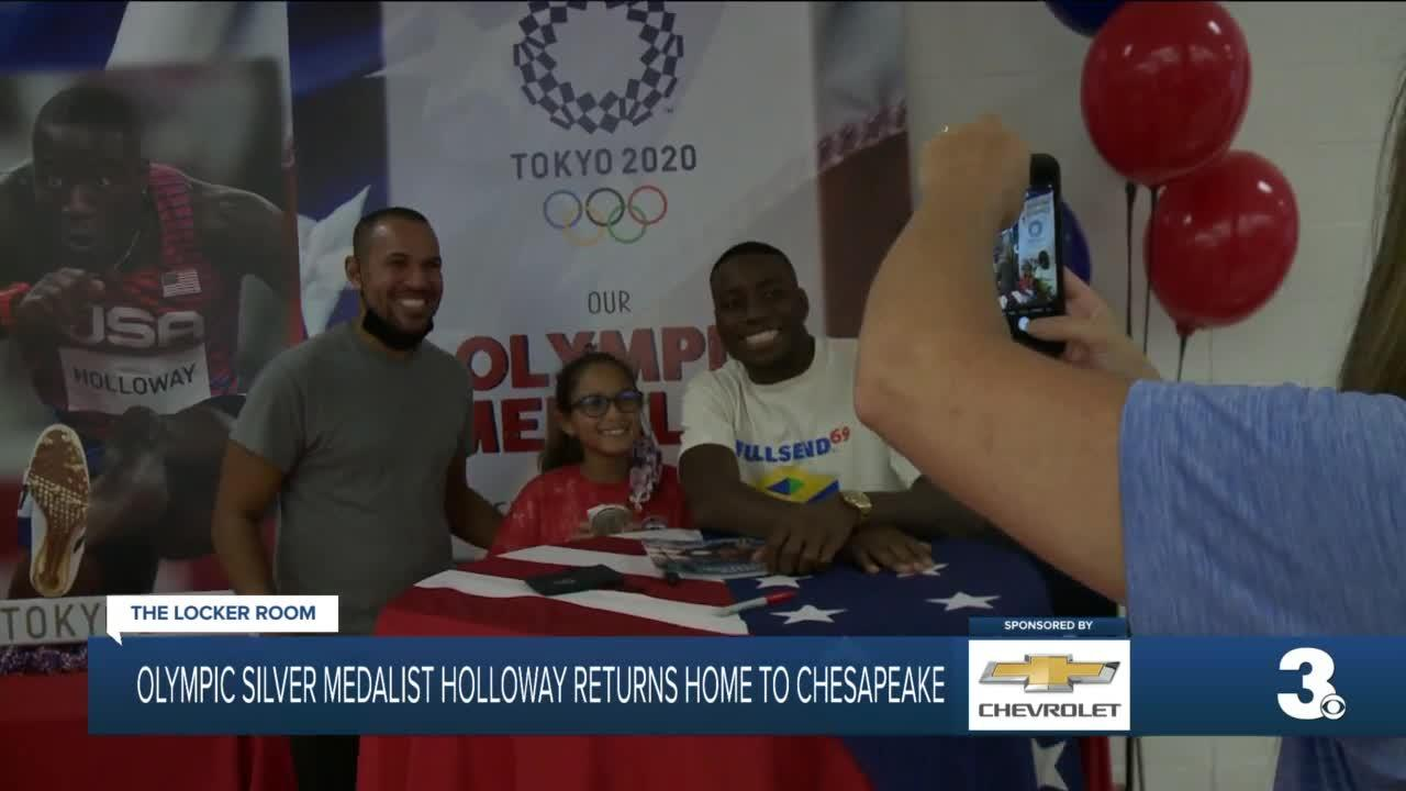 Olympian Grant Holloway returns home to Chesapeake after winning silver in Tokyo