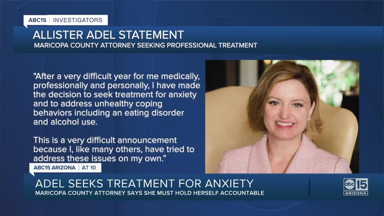 MCAO Attorney Allister Adel seeking treatment for alcohol use, eating disorder