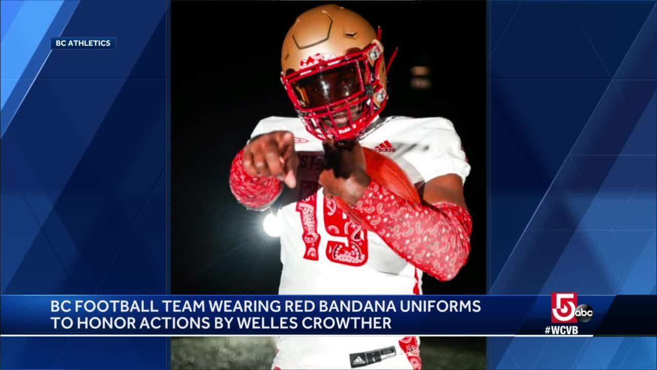 BC to honor 9/11 victim with red bandana uniforms