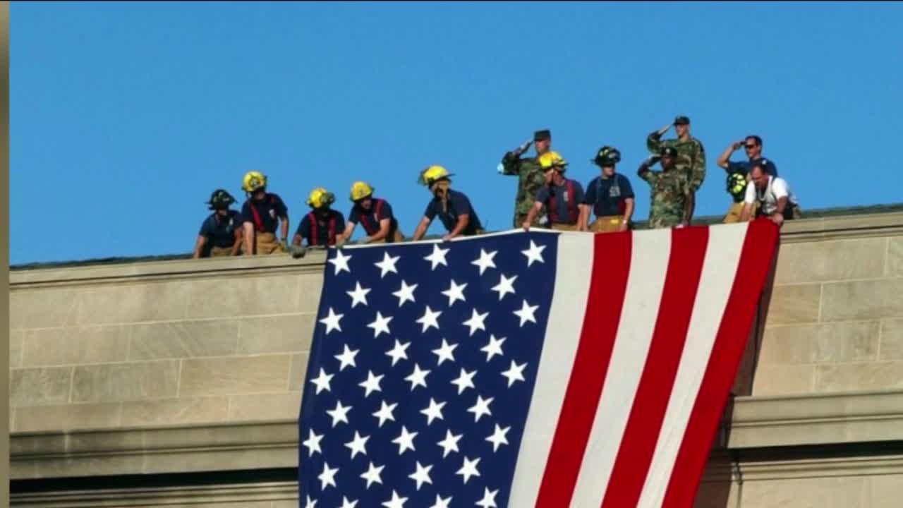 Virginia soldier felt 'so proud' unfurling American flag at Pentagon after 9/11 attack