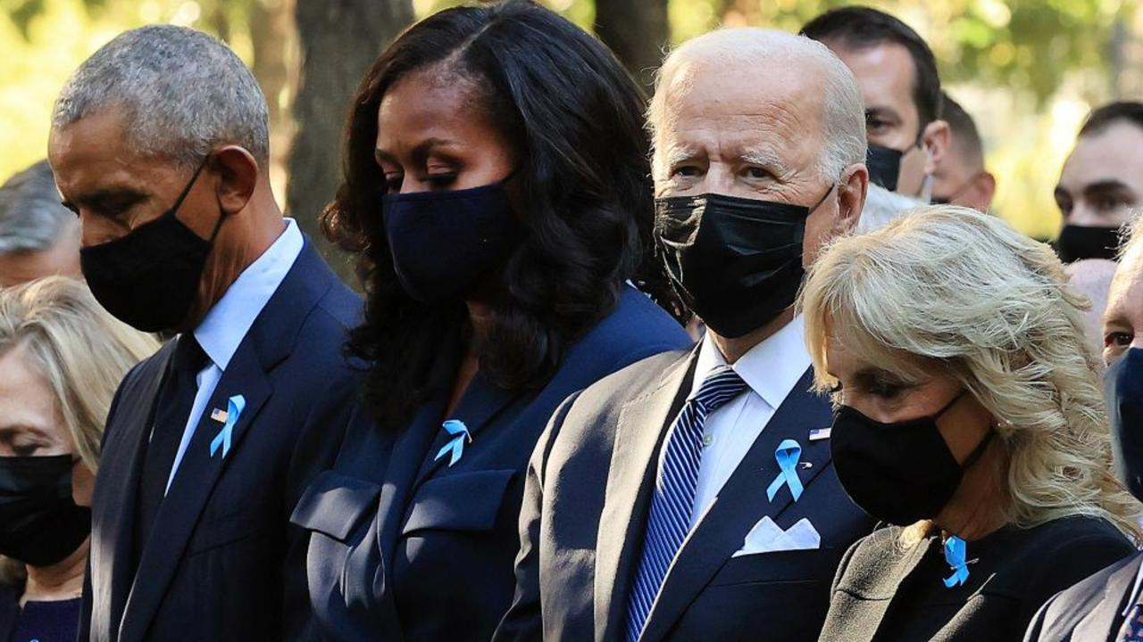 Biden and Obama observe September 11th moment of silence
