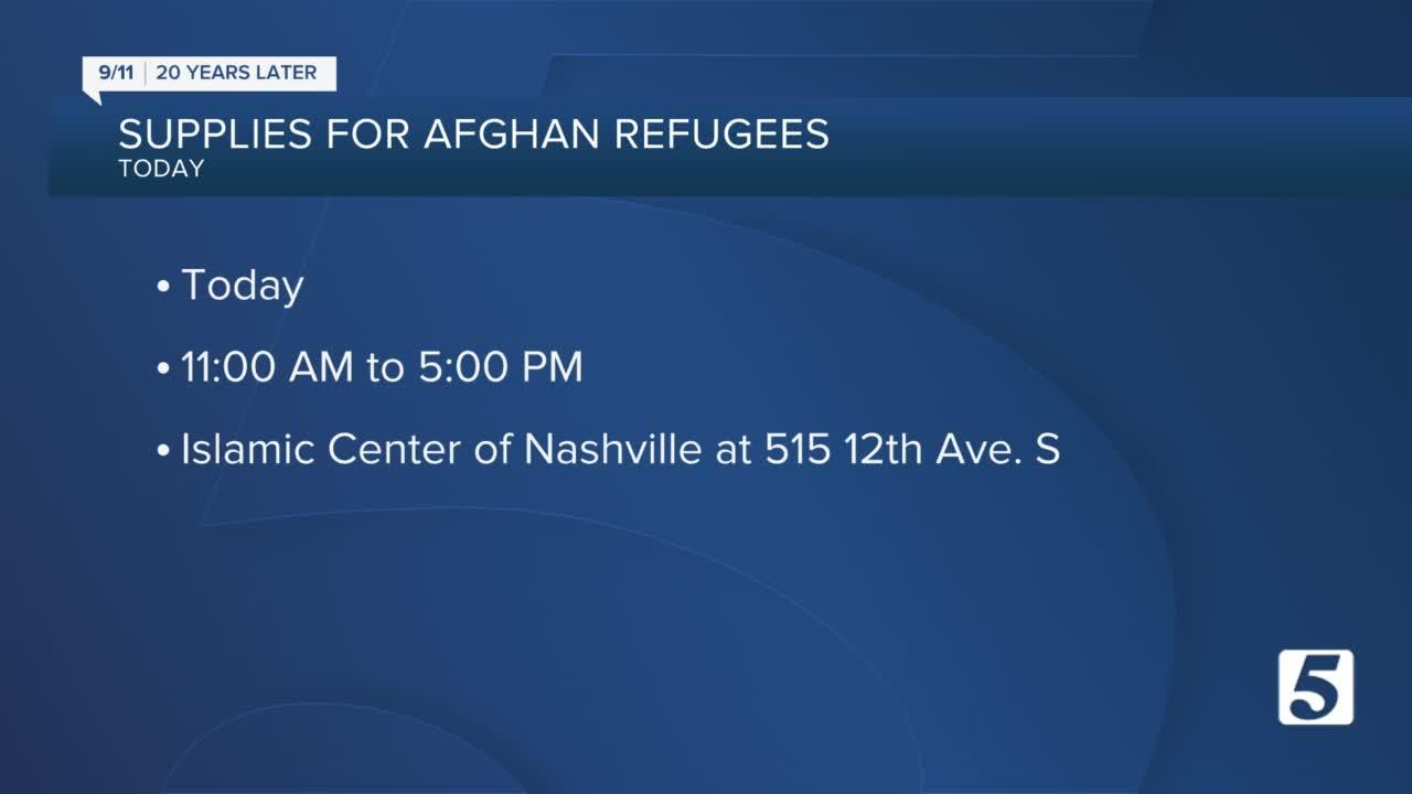 Interfaith community collects supplies for Afghan refugees