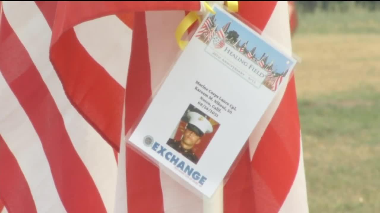 Memorial flags erected in Laurel