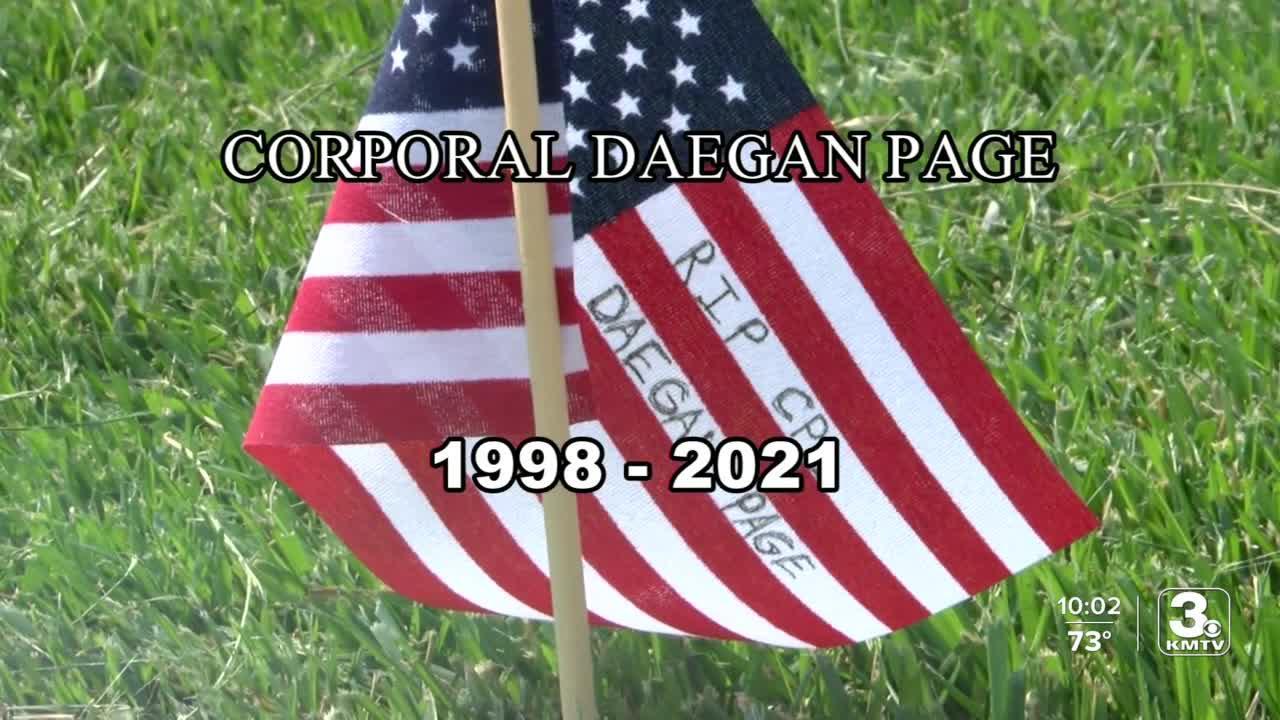 Nebraska and Iowa pay tribute to Cpl. Daegan Page
