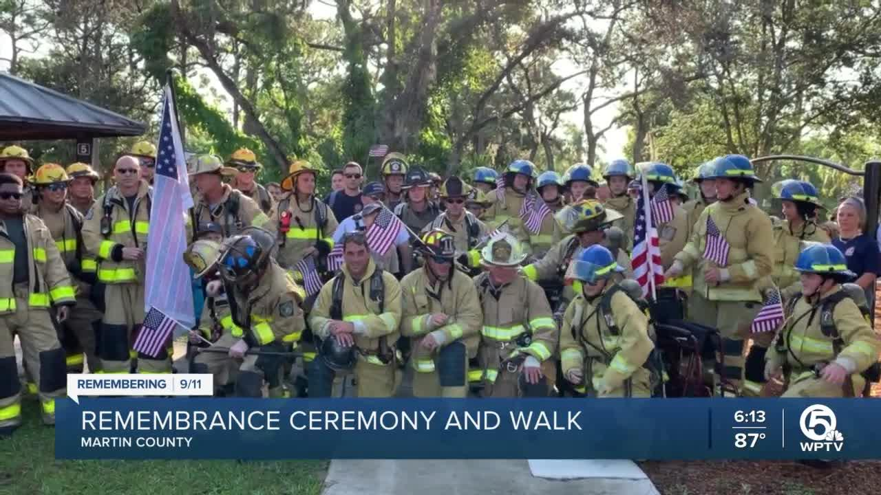 9/11 remembrance ceremony and walk held in Martin County