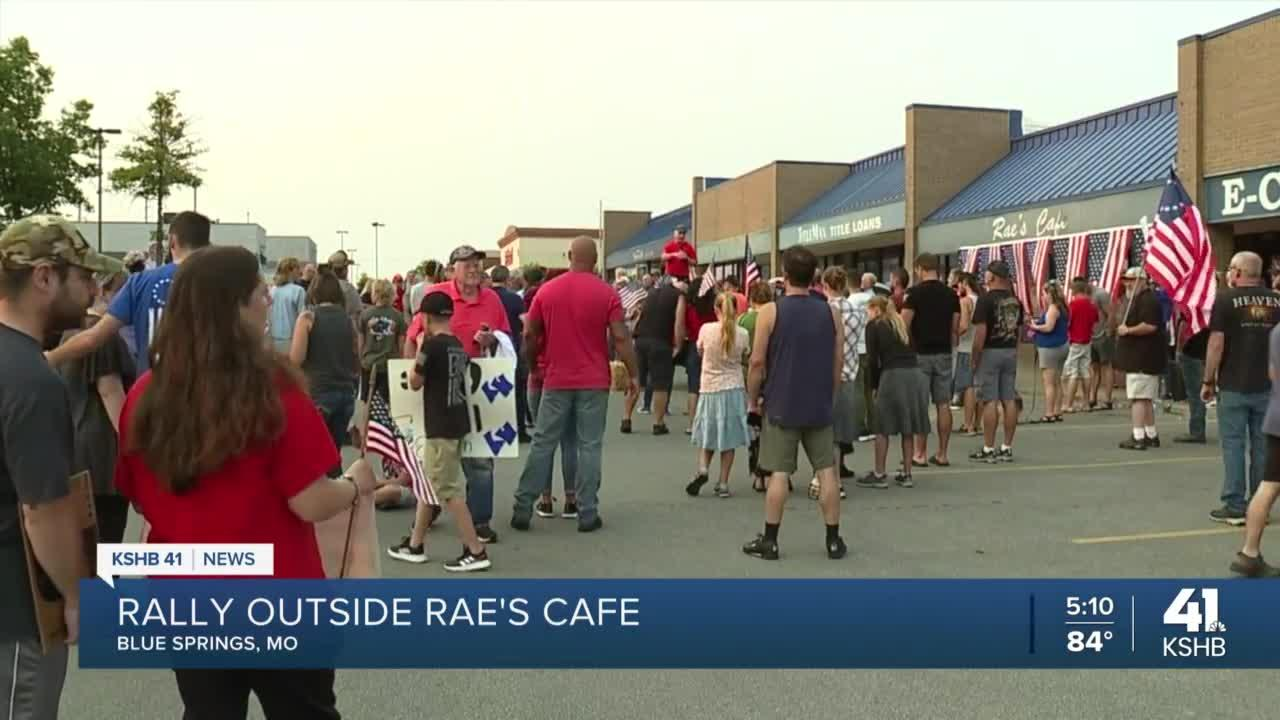 Over 100 people gather to show support for Rae's Cafe