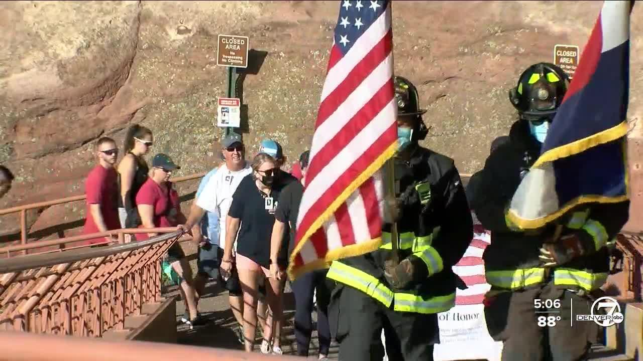 Colorado family remembers, honors loved one lost on 9/11 by taking part in Red Rocks stair climb