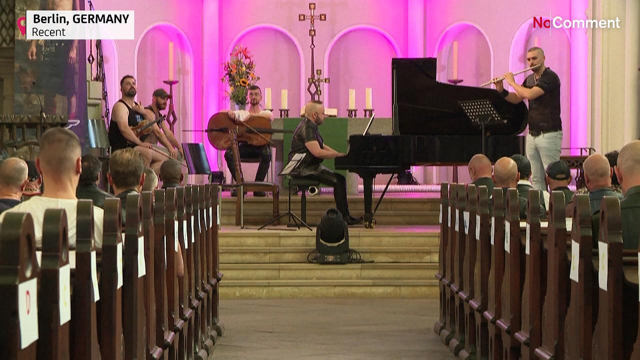 Berlin's leather lovers listen to classical music in a church