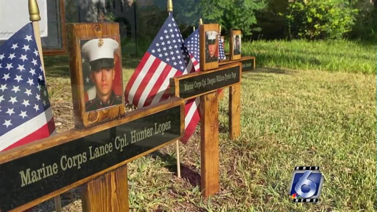 Never Forget: Military spouse creates front yard memorial to honor the fallen