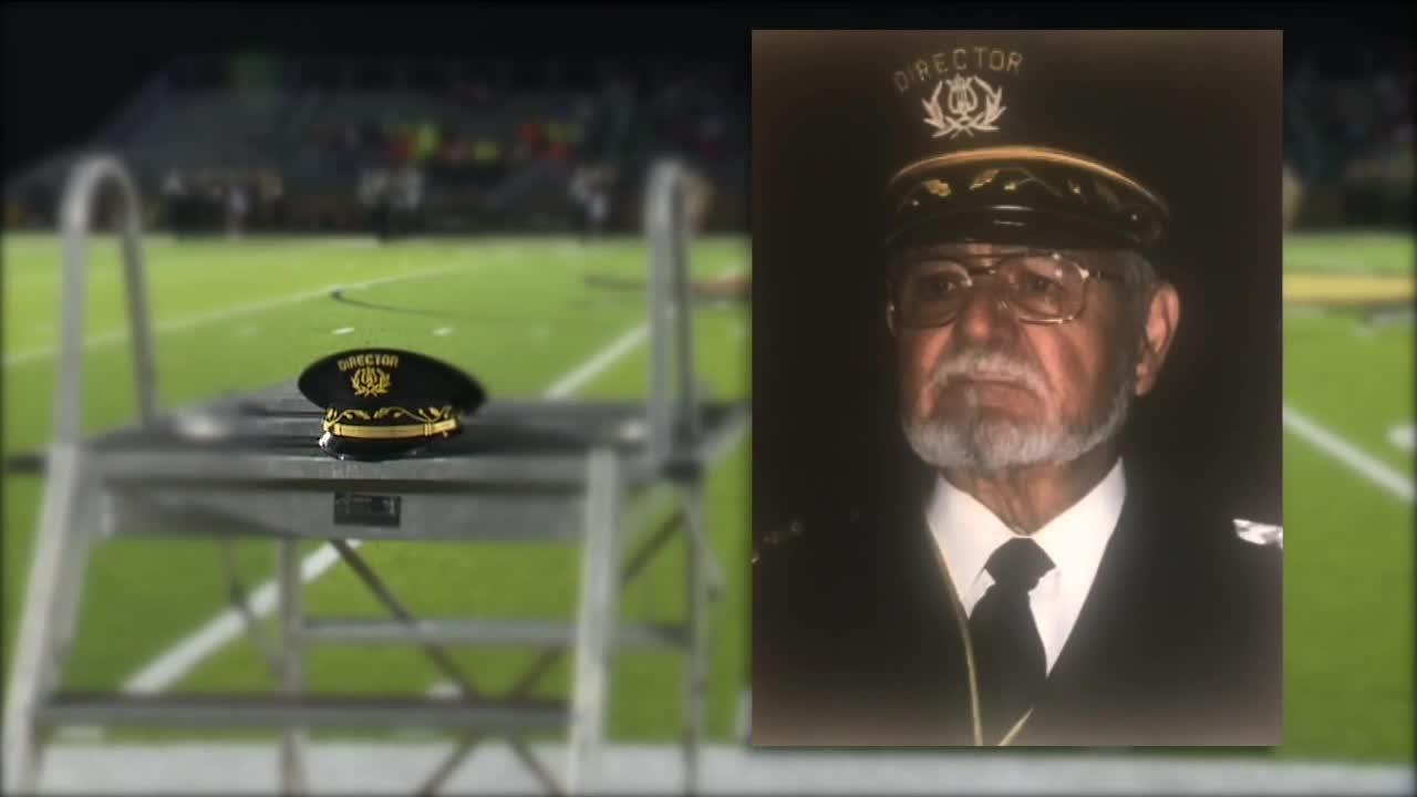 Former Lakeside band director who died last year honored during Friday homecoming game