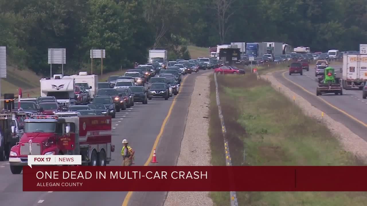 One dead in multi-car crash