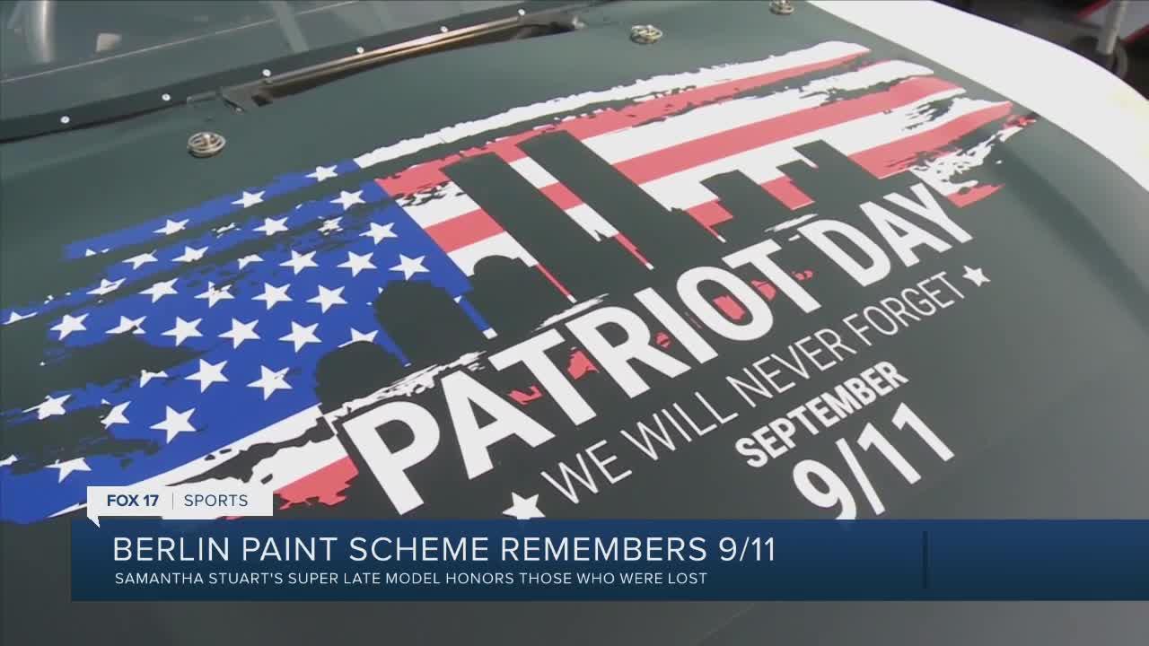 Berlin Raceway paint scheme honors those lost in 9/11
