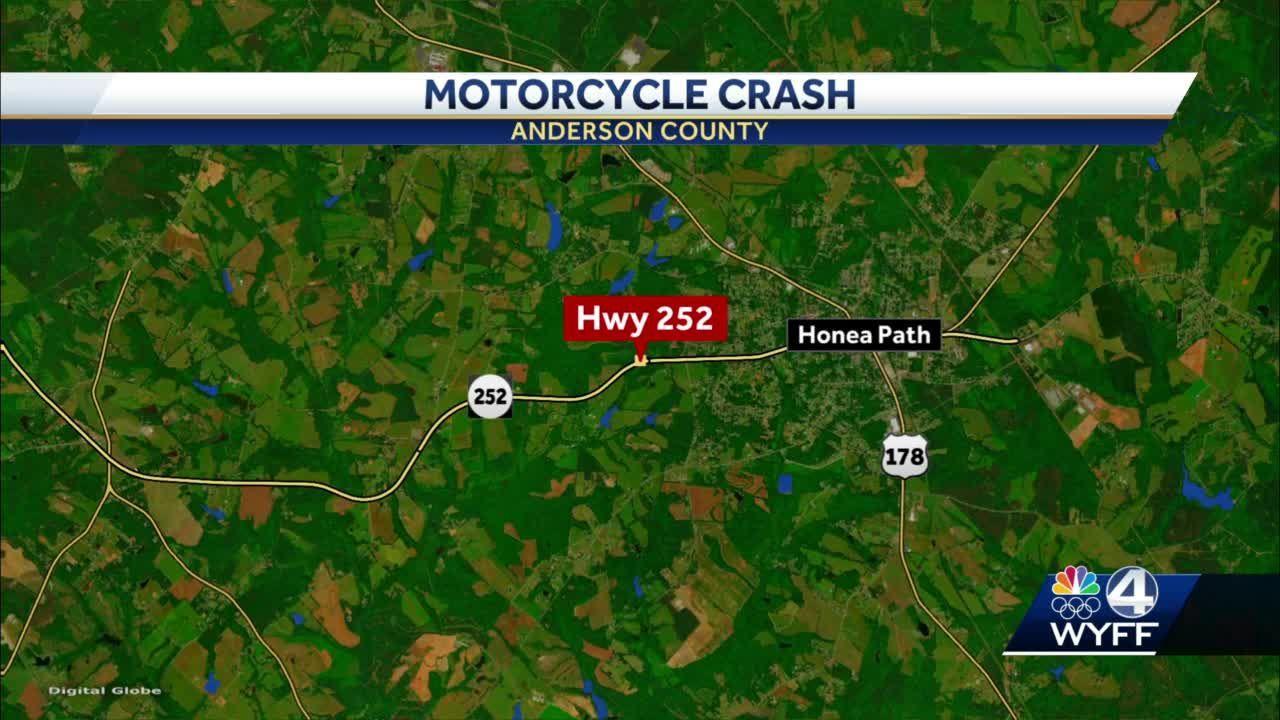 Anderson County motorcycle crash