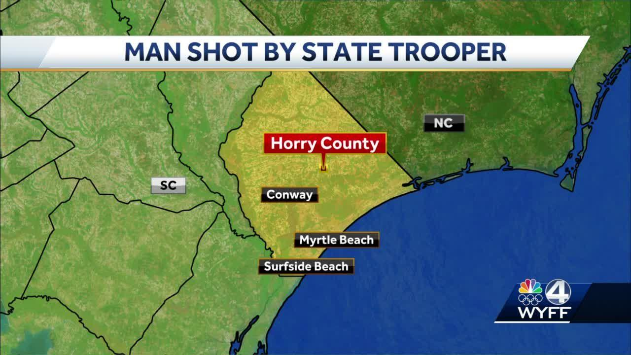 Man shot by trooper in Horry County