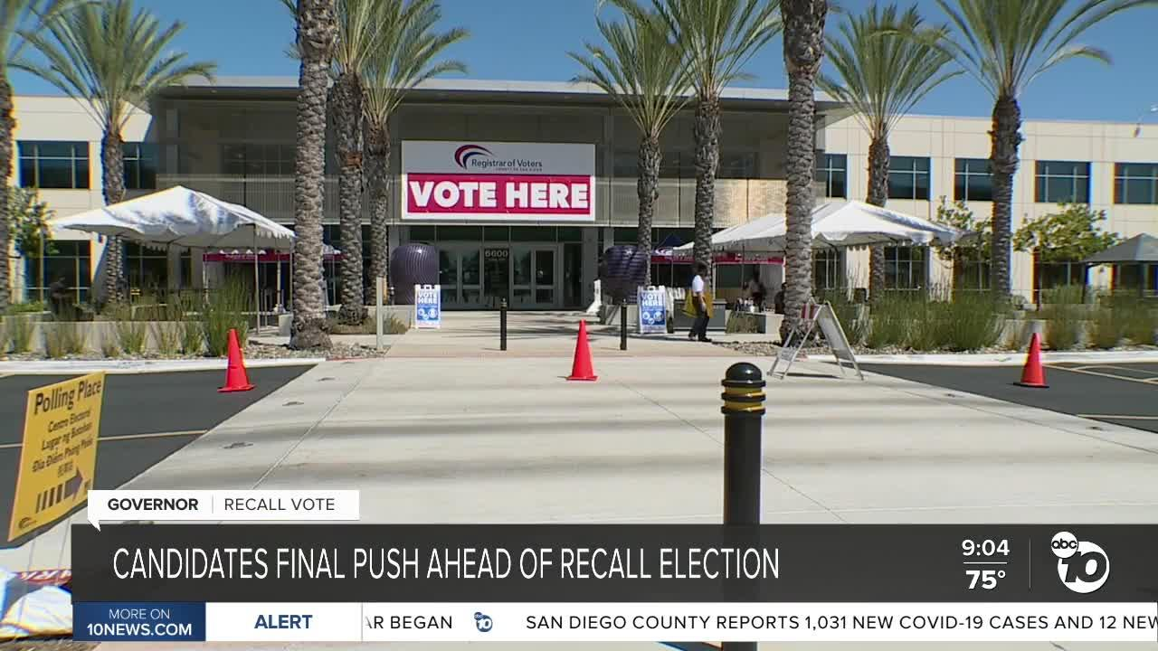 Recall candidates final push