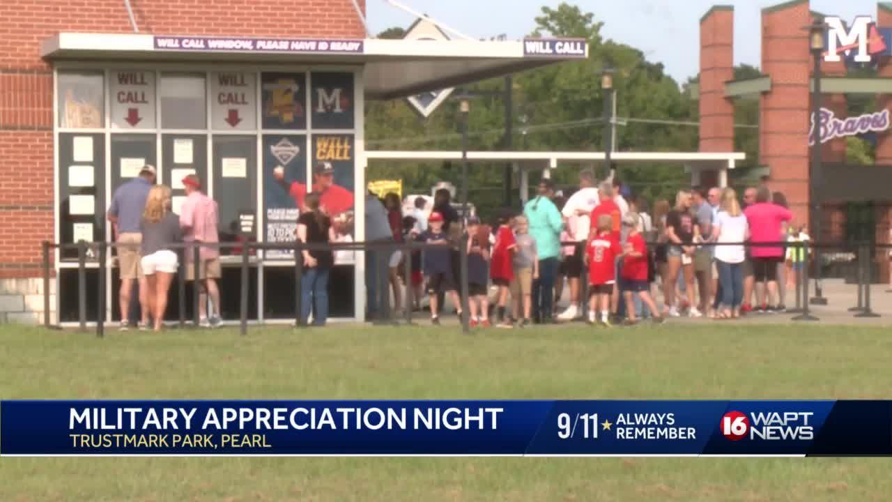 Mississippi Braves Honor the Military and First Responders
