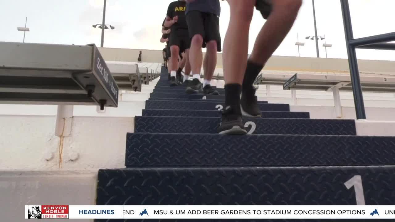 Army ROTC runs Bobcat Stadium in honor of Sept. 11; Montana State hosts memorial ceremony