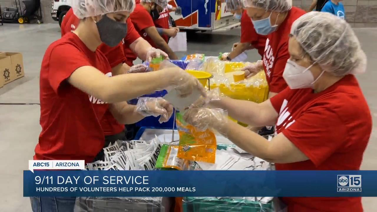 Valley volunteers turning day of tragedy into day of service
