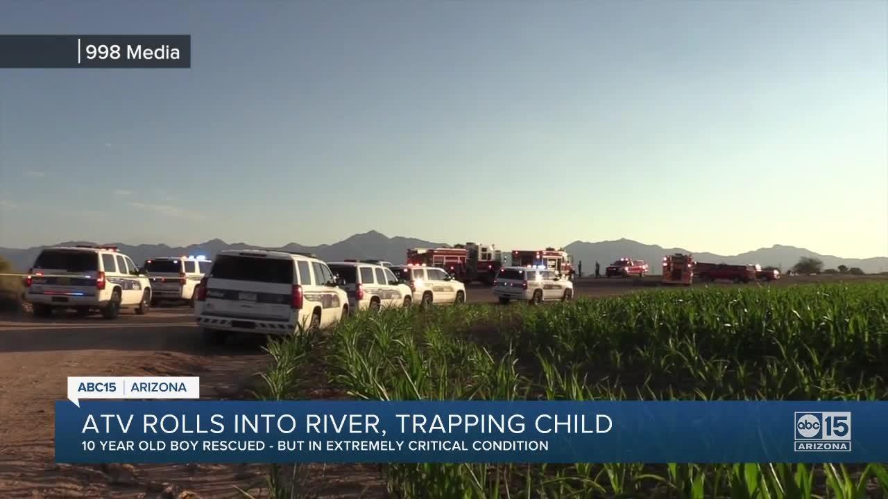 10-year-old boy injured in ATV rollover