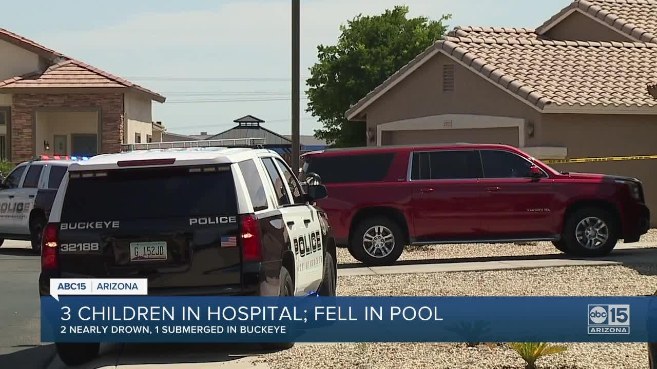 Four children hospitalized Saturday after being pulled from Valley pools in two different incidents