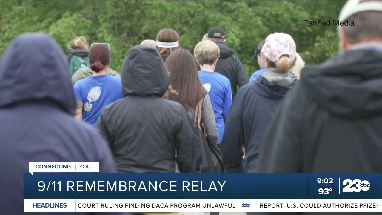 Supporters walk to remember service members