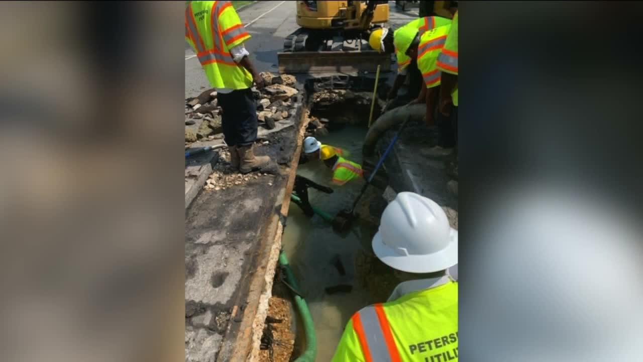 Broken water main 'significantly worse than expected' in Petersburg