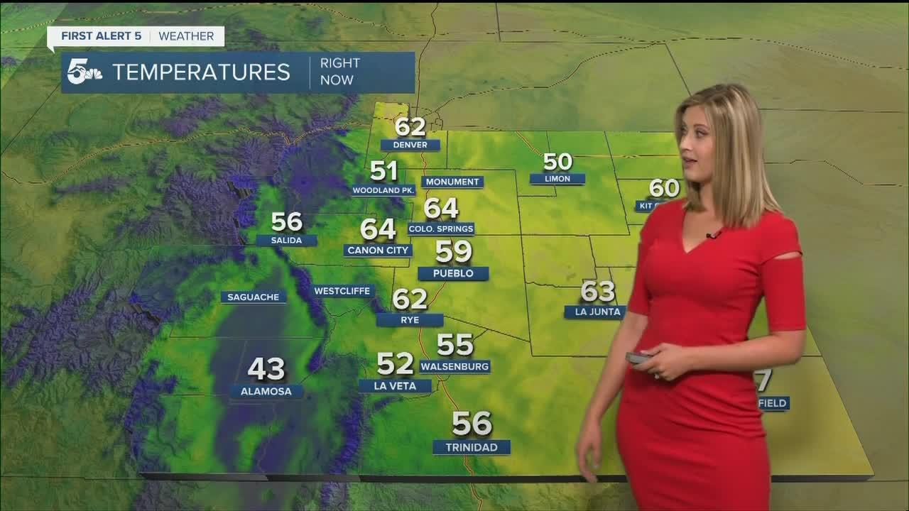 Not as hot today with isolated thunderstorms