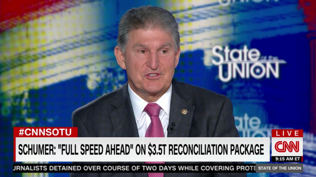 Manchin: 'I can assure you' reconciliation bill won't be $3.5 trillion