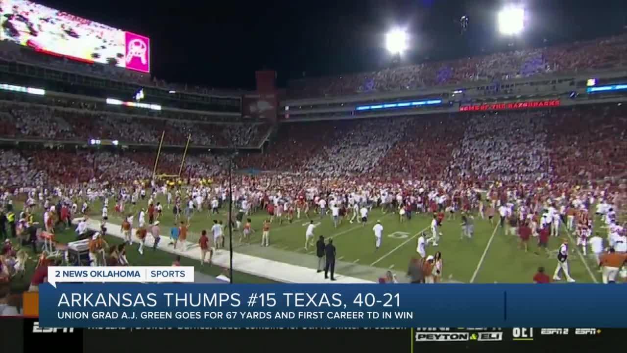 Arkansas Thumps #15 Texas, 40-21