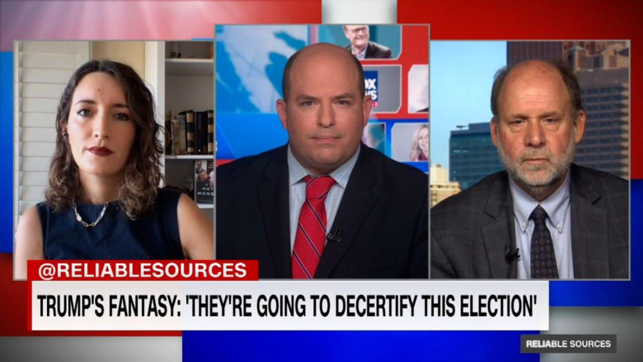 Trump's new fantasy: 'They're going to decertify this election'