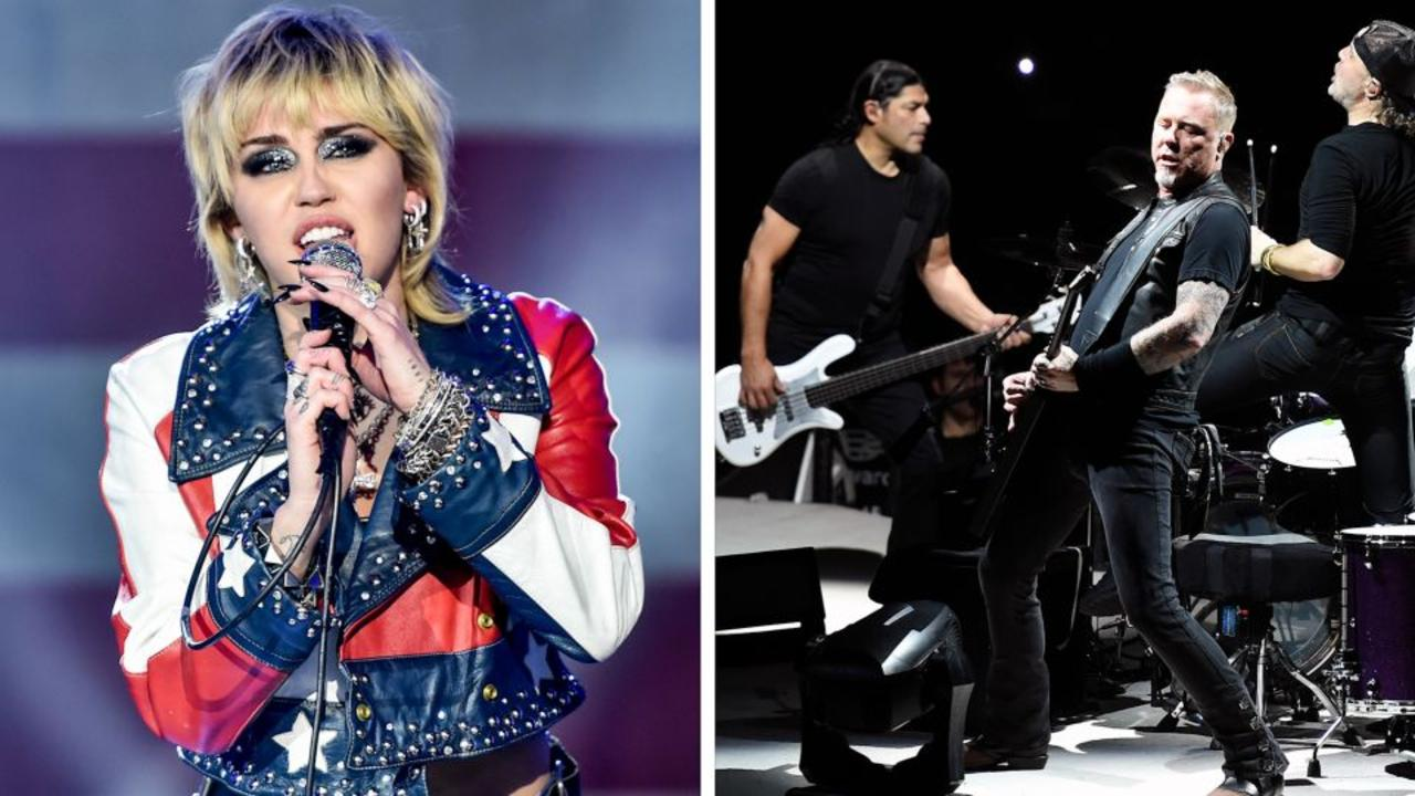 Watch Miley Cyrus and Metallica team up on 'Nothing Else Matters'