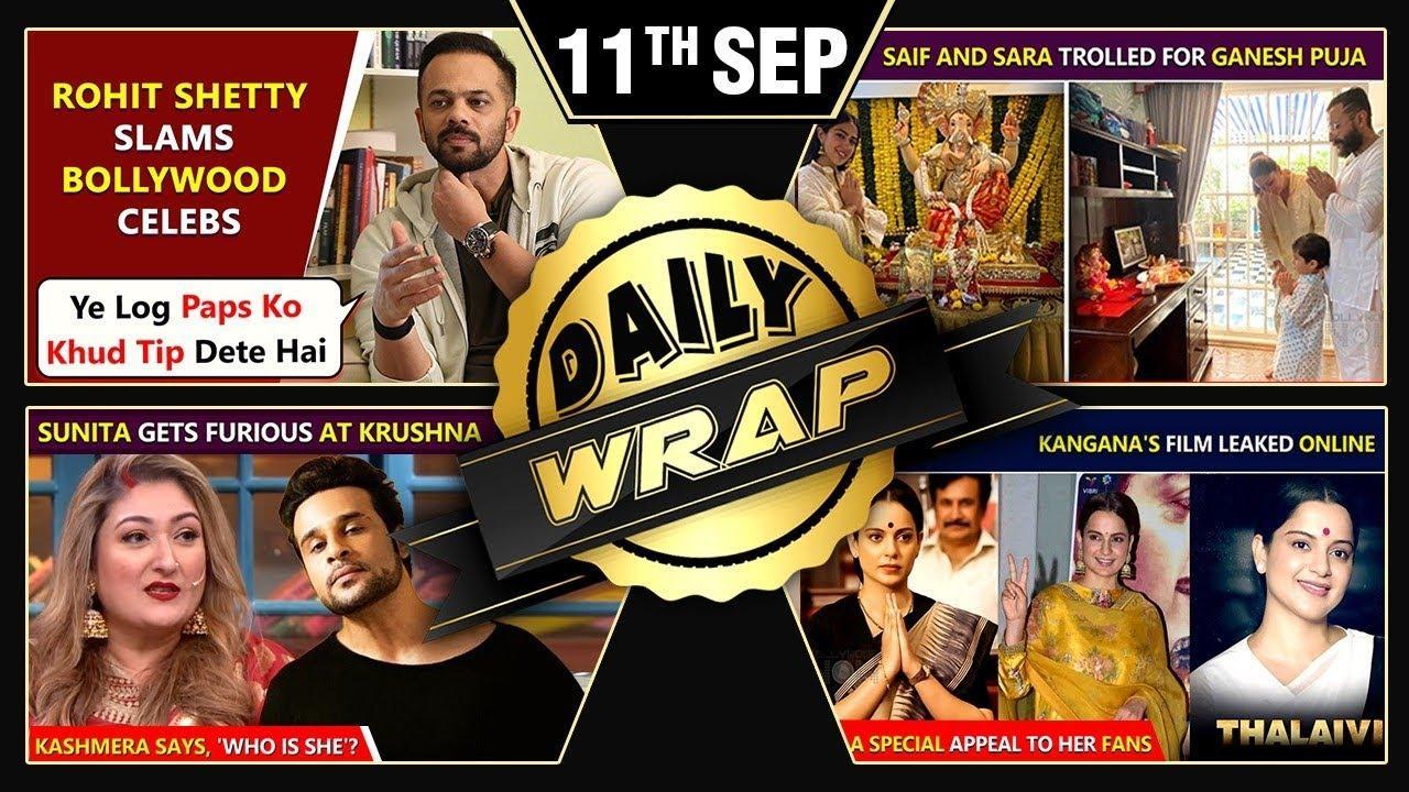 Kangana Ranaut Planning Thalaivii Sequel, Saif & Sara trolled for Ganesh Pooja | Top 10 News