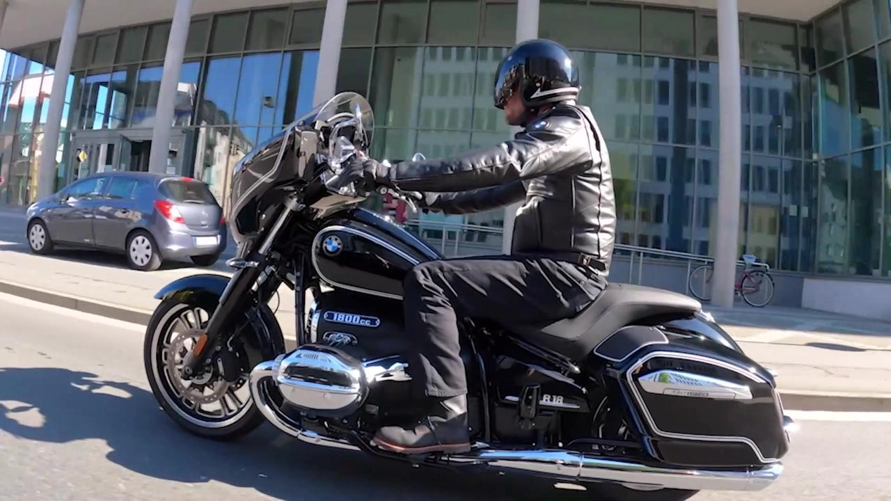 The new BMW R 18 B First Edition Driving Video