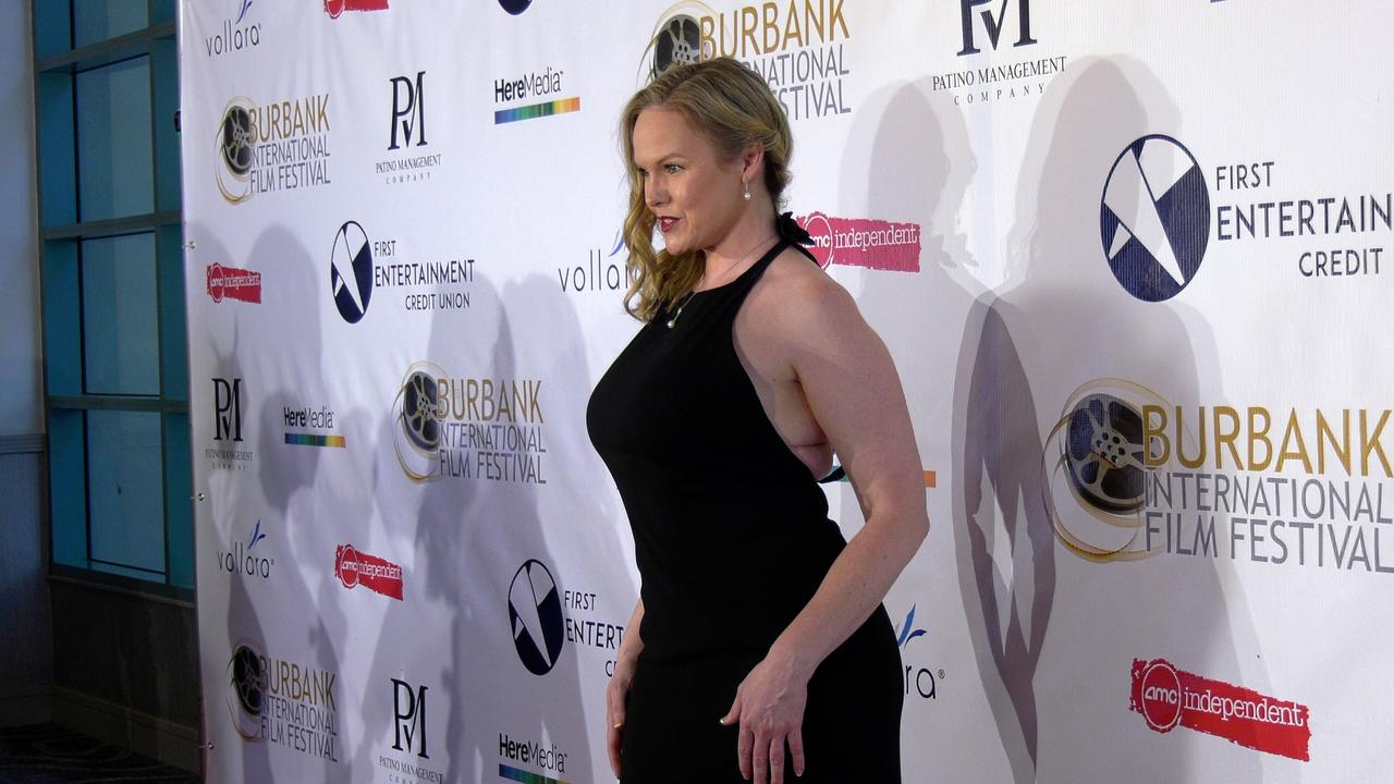 Ashley Atwood attends the 13th annual Burbank Intl Film Festival Closing Night Awards Gala red carpet