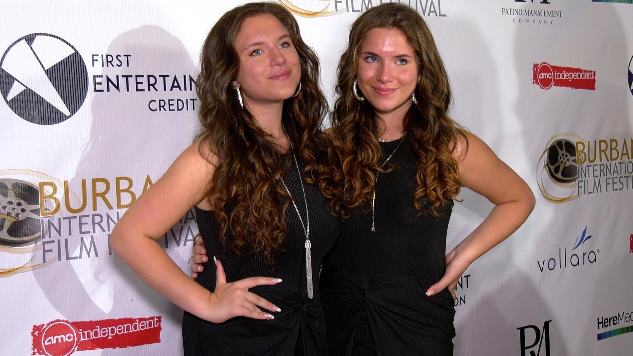 Bianca & Chiara D'ambrosio attend the 13th annual Burbank Intl Film Festival Closing Night Awards Gala red carpet